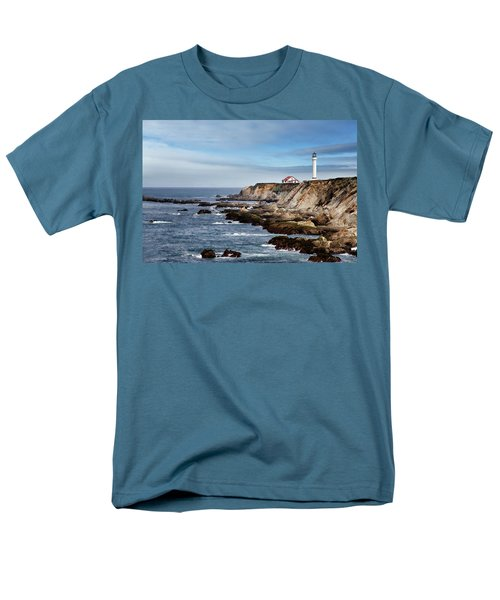 Point Arena Light Men's T-Shirt  (Regular Fit) by Lana Trussell