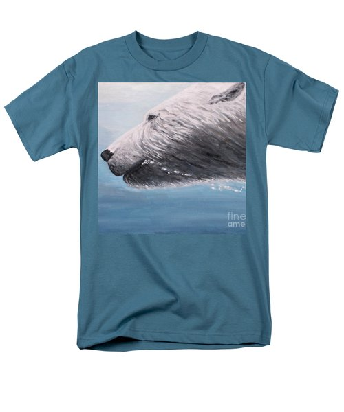 Polar Bear Splash Men's T-Shirt  (Regular Fit) by Judy Kirouac