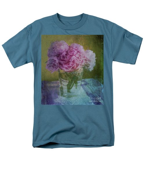 Men's T-Shirt  (Regular Fit) featuring the digital art Polite Peonies by Alexis Rotella