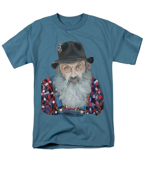 Popcorn Sutton Moonshiner Bust - T-shirt Transparent Men's T-Shirt  (Regular Fit) by Jan Dappen