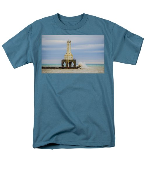 Men's T-Shirt  (Regular Fit) featuring the photograph Port Washington Light 3 by Deborah Smolinske