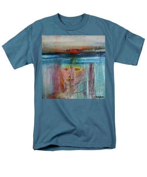 Men's T-Shirt  (Regular Fit) featuring the painting Portrait Of A Refugee by Kim Nelson