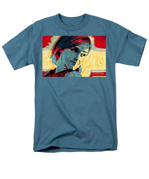 Portrait Of Emma Watson Men's T-Shirt  (Regular Fit) by Zedi