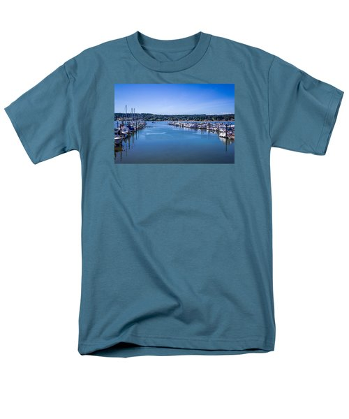 Men's T-Shirt  (Regular Fit) featuring the photograph Poulsbo Marina by Randy Bayne