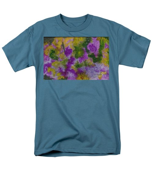 Men's T-Shirt  (Regular Fit) featuring the painting Pouring Flowers by Vicki  Housel