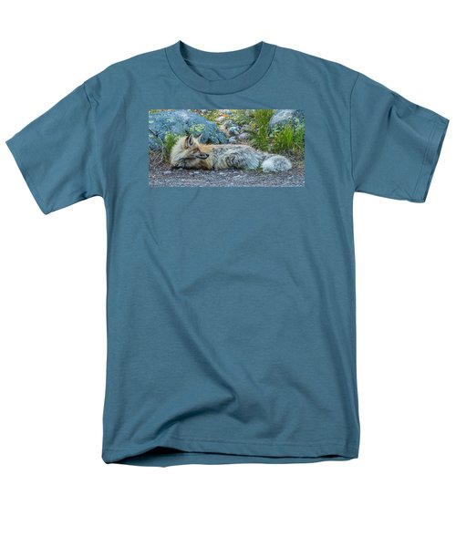 Men's T-Shirt  (Regular Fit) featuring the photograph Pretty Boy Fox In Spring by Yeates Photography