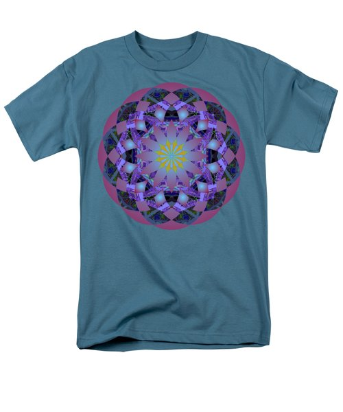 Psychedelic Mandala 006 A Men's T-Shirt  (Regular Fit) by Larry Capra