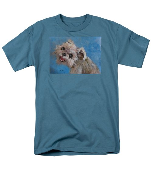Pudgy Smiles Men's T-Shirt  (Regular Fit) by Barbara O'Toole