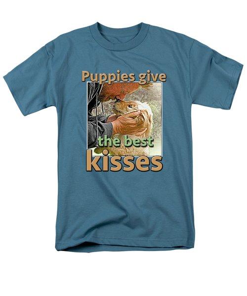 Men's T-Shirt  (Regular Fit) featuring the digital art Puppy Love by Richard Farrington