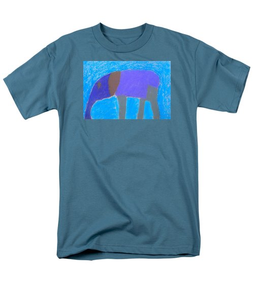 Men's T-Shirt  (Regular Fit) featuring the pastel Purple Elephant by Artists With Autism Inc