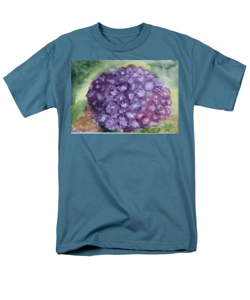 Men's T-Shirt  (Regular Fit) featuring the painting Purple Hydrangea by Donna Walsh