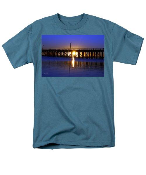 Purple Ocean Sunrise Men's T-Shirt  (Regular Fit) by Gary Crockett