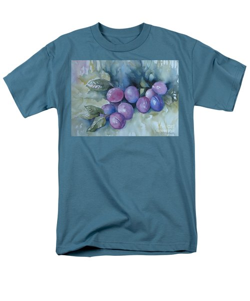 Men's T-Shirt  (Regular Fit) featuring the painting Purple Plums by Elena Oleniuc