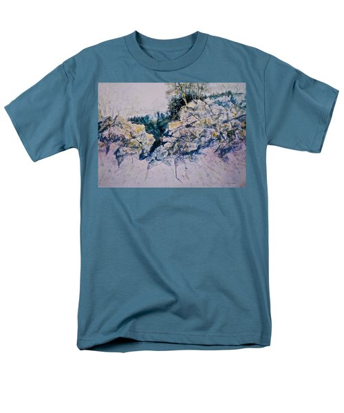 Men's T-Shirt  (Regular Fit) featuring the painting Quiet Journey by Carolyn Rosenberger