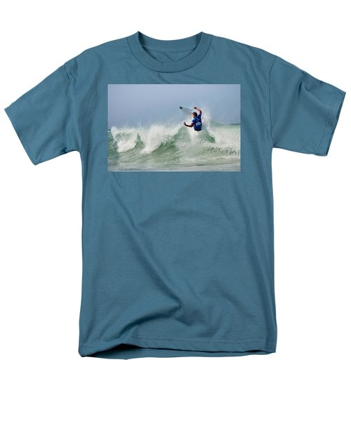 Men's T-Shirt  (Regular Fit) featuring the photograph Quiksilver Pro France I by Thierry Bouriat