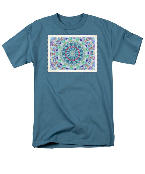 Quilted Color  Wheel Men's T-Shirt  (Regular Fit) by Shirley Moravec