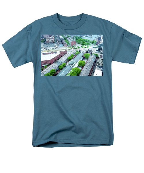 Men's T-Shirt  (Regular Fit) featuring the photograph Quincy And Columbus by Greg Fortier