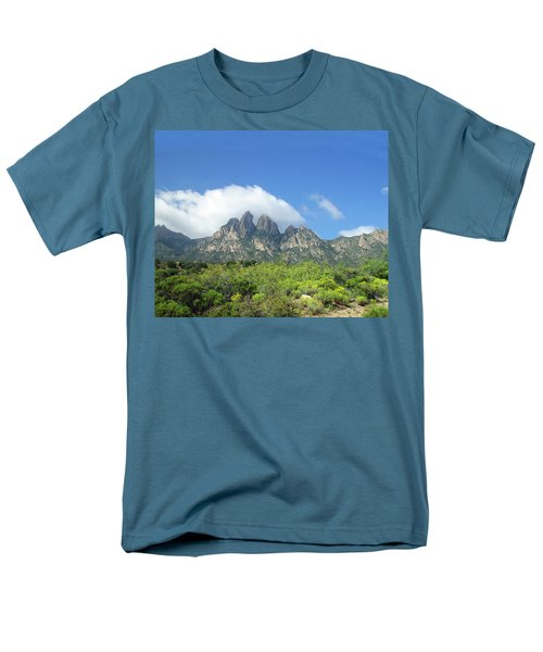 Men's T-Shirt  (Regular Fit) featuring the photograph  Organ Mountains Rabbit Ears by Jack Pumphrey