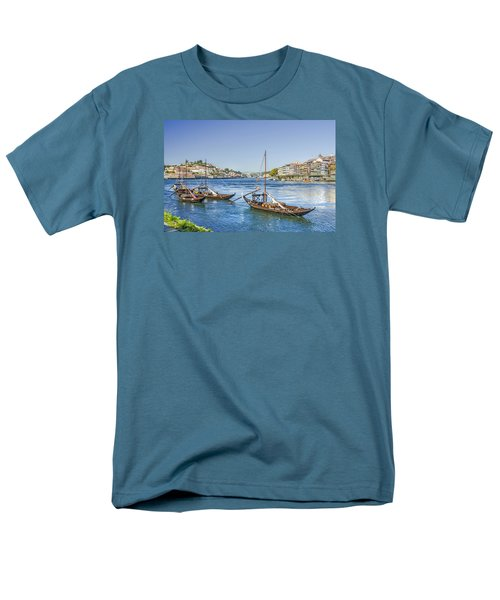 Men's T-Shirt  (Regular Fit) featuring the photograph Rabelos On The Douro by Brian Tarr