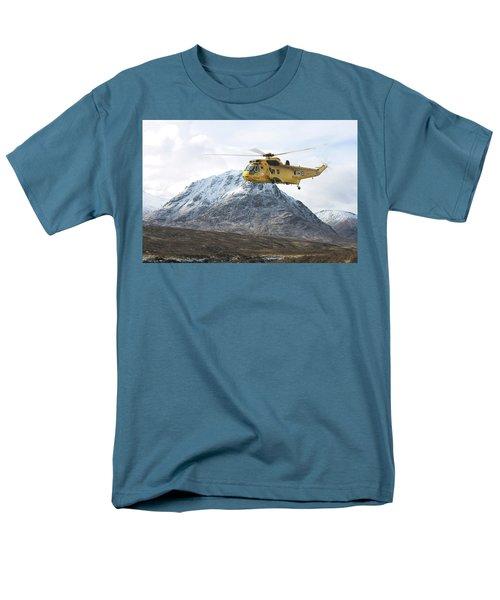Men's T-Shirt  (Regular Fit) featuring the digital art Raf Sea King - Sar by Pat Speirs