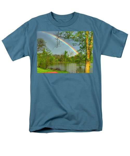 Rainbow At The Lake Men's T-Shirt  (Regular Fit) by Sumoflam Photography
