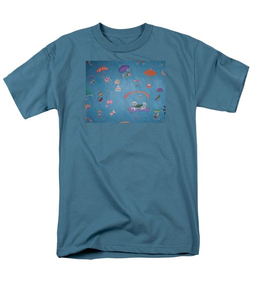Raining Cats And Dogs Men's T-Shirt  (Regular Fit) by Dee Davis