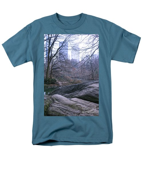 Men's T-Shirt  (Regular Fit) featuring the photograph Rainy Day In Central Park by Sandy Moulder