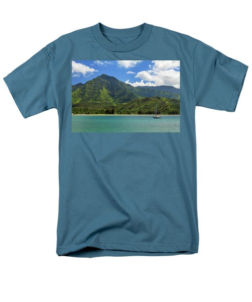 Ready To Sail In Hanalei Bay Men's T-Shirt  (Regular Fit) by James Eddy