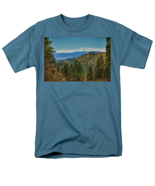Men's T-Shirt  (Regular Fit) featuring the photograph Recovery After Fire At Yellowstone by Penny Lisowski