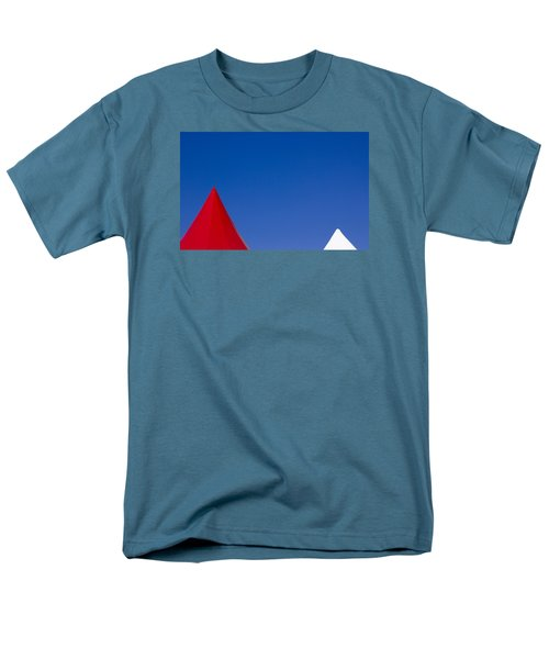 Red And White Triangles Men's T-Shirt  (Regular Fit) by Prakash Ghai