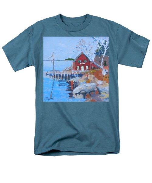 Red Boat House Men's T-Shirt  (Regular Fit) by Francine Frank