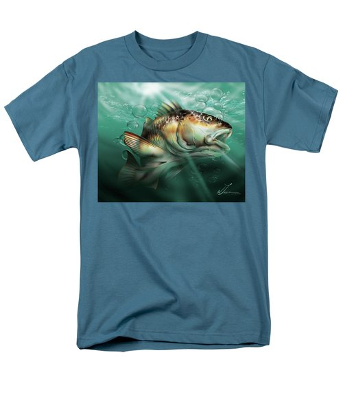 Red Drum Men's T-Shirt  (Regular Fit) by William Love