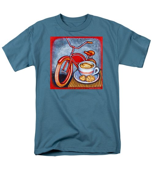 Red Electra Delivery Bicycle Cappuccino And Amaretti Men's T-Shirt  (Regular Fit) by Mark Jones