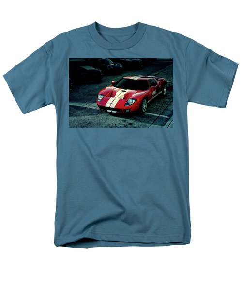 Men's T-Shirt  (Regular Fit) featuring the photograph Red Ford Gt by Joel Witmeyer