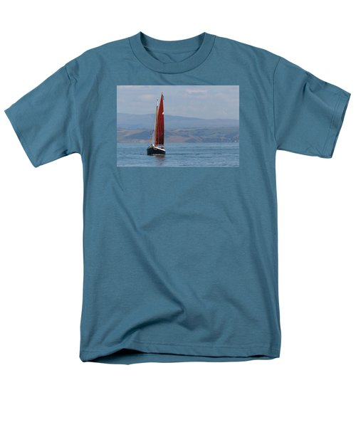 Men's T-Shirt  (Regular Fit) featuring the photograph Red Sail by Richard Patmore
