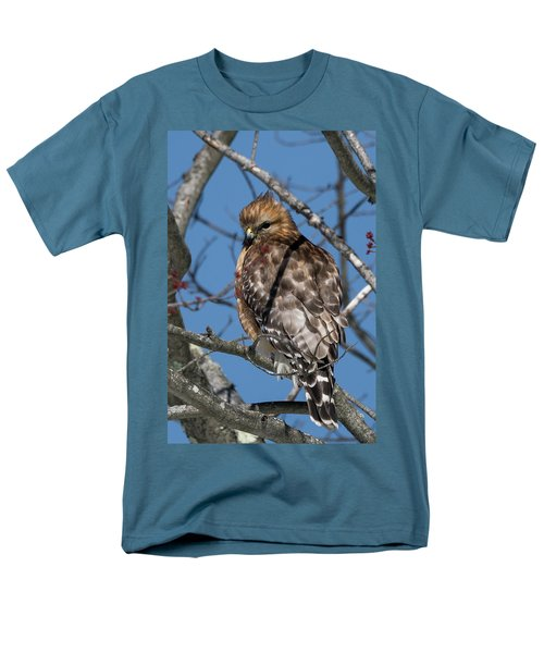 Men's T-Shirt  (Regular Fit) featuring the photograph Red Shouldered Hawk 2017 by Bill Wakeley
