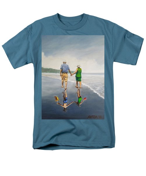 Reflecting Happiness Men's T-Shirt  (Regular Fit)