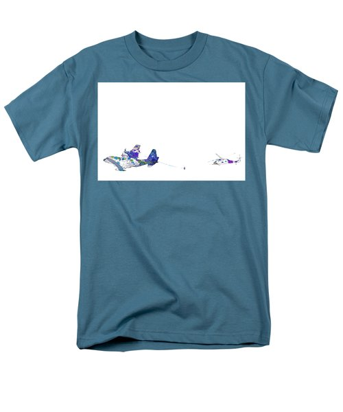Men's T-Shirt  (Regular Fit) featuring the digital art Refueling Watercolor On White by Bartz Johnson