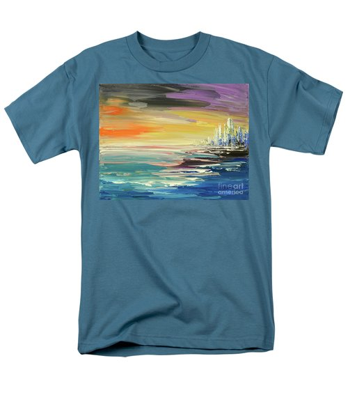 Men's T-Shirt  (Regular Fit) featuring the painting Remote Harmonies by Tatiana Iliina
