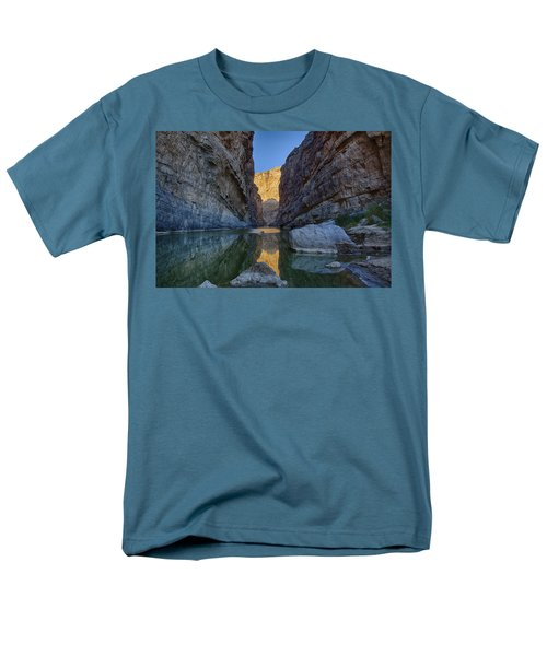 Rio Grand - Big Bend Men's T-Shirt  (Regular Fit) by Kathy Adams Clark