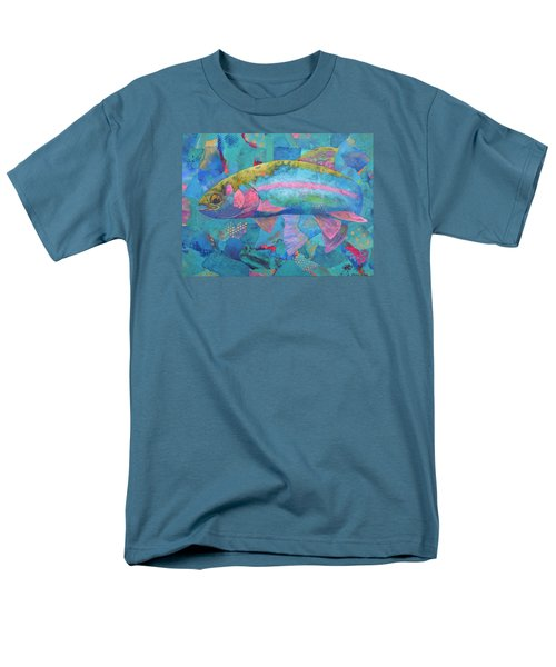 Men's T-Shirt  (Regular Fit) featuring the painting River Bow by Nancy Jolley