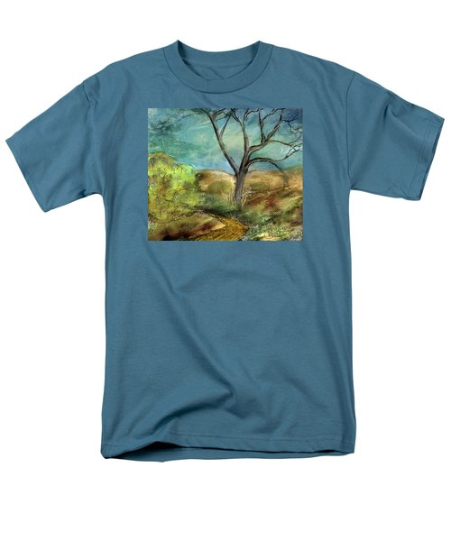 Men's T-Shirt  (Regular Fit) featuring the painting Riverbed  by Annette Berglund