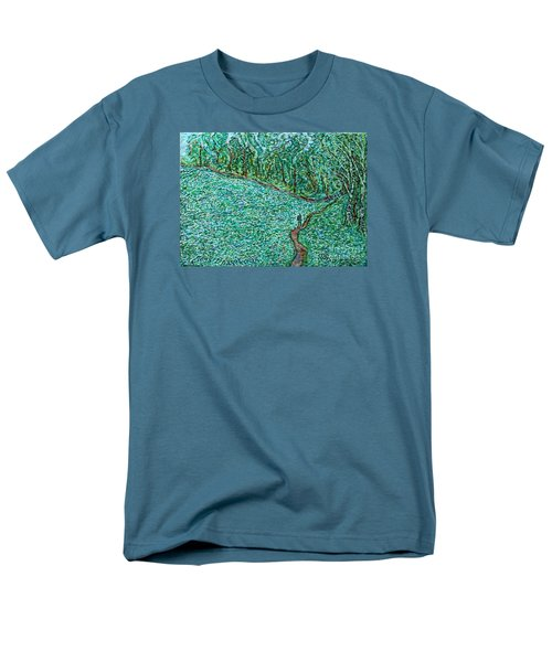 Roadside Green Men's T-Shirt  (Regular Fit) by Anna Yurasovsky