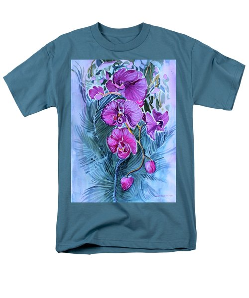 Men's T-Shirt  (Regular Fit) featuring the painting Rose Orchids by Mindy Newman