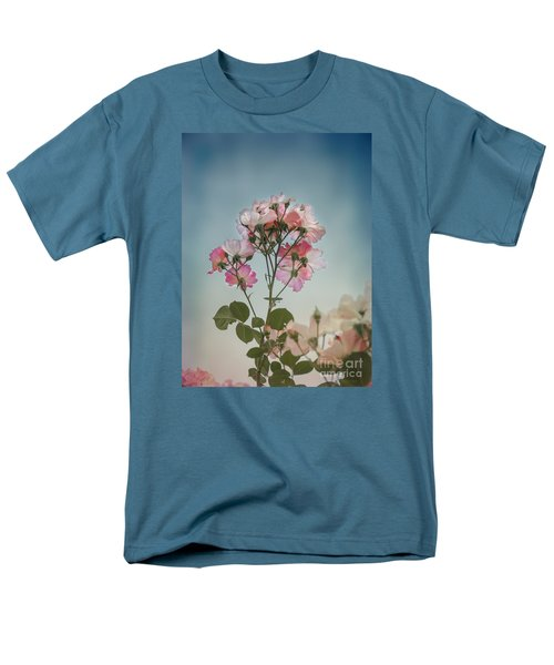 Men's T-Shirt  (Regular Fit) featuring the photograph Roses In The Sky by Elaine Teague