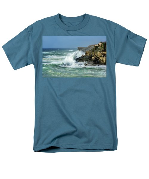 Men's T-Shirt  (Regular Fit) featuring the photograph Rugged Coastal Seascape by Marion McCristall
