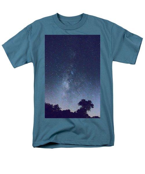 Running Dog Tree And Galaxy Men's T-Shirt  (Regular Fit) by Carolina Liechtenstein
