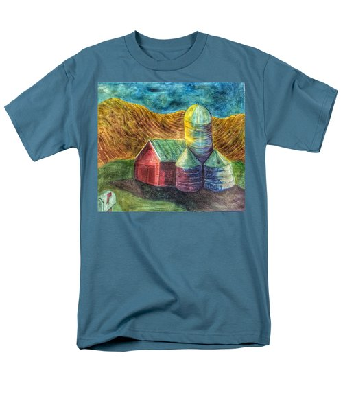 Men's T-Shirt  (Regular Fit) featuring the painting Rural Farm by Jame Hayes