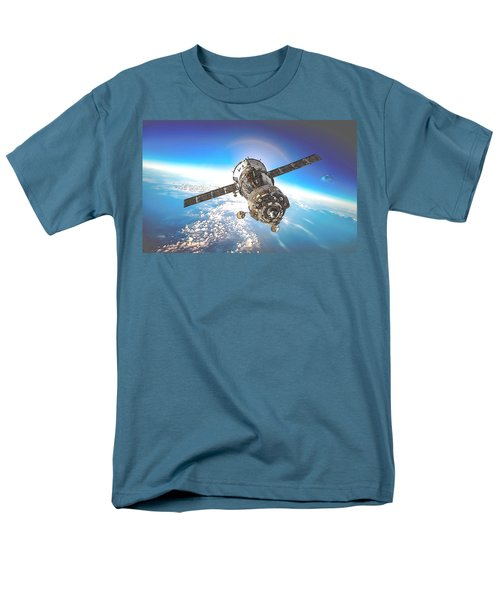 Men's T-Shirt  (Regular Fit) featuring the digital art Majestic Blue Planet Earth by Maciek Froncisz