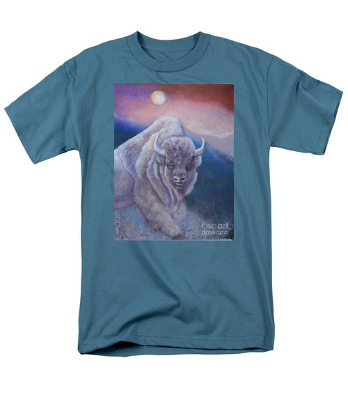 Sacred White Buffalo Men's T-Shirt  (Regular Fit)